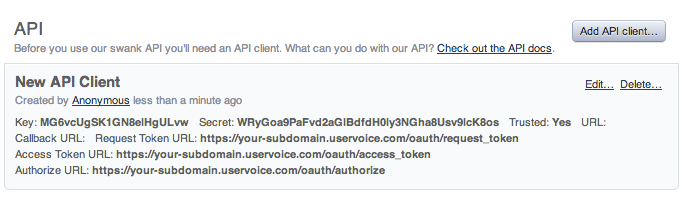 Getting Started With The Helpdesk Api Uservoice Developer